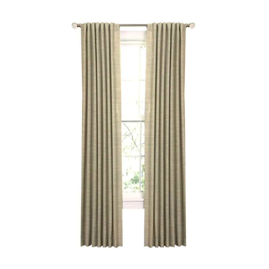 allen + roth Evington 63-in Thyme Cotton Back Tab Light Filtering Single Curtain Panel