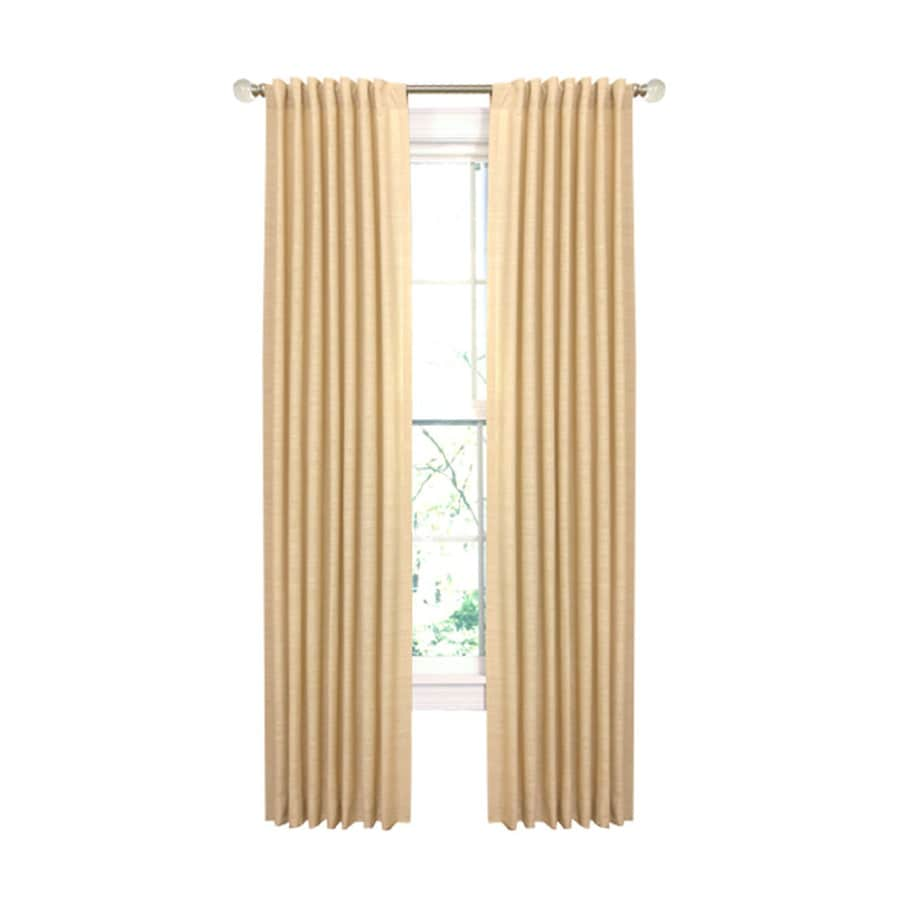 allen + roth Evington 63-in Wheat Cotton Back Tab N/A Single Curtain Panel