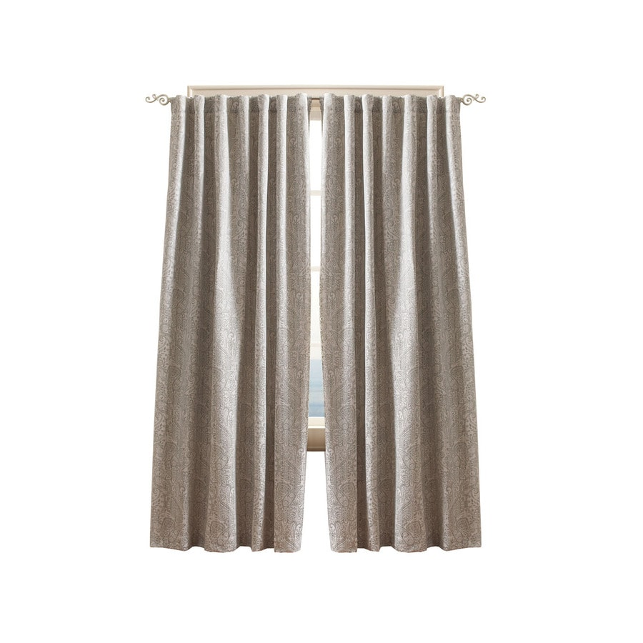 Simply Classic Mira Paisley 95-in Mineral Polyester Back Tab Light Filtering Single Curtain Panel