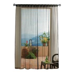 Solaris Mesh Polyester Back Tab Sheer Single Curtain Panel