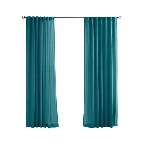 Solaris Canvas Solid 108 In Teal Polyester Light Filtering