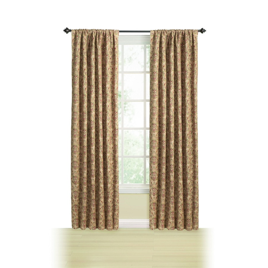 Style Selections Chateau Tapestry 95-in Multi Polyester Back Tab Light Filtering Standard Lined Single Curtain Panel