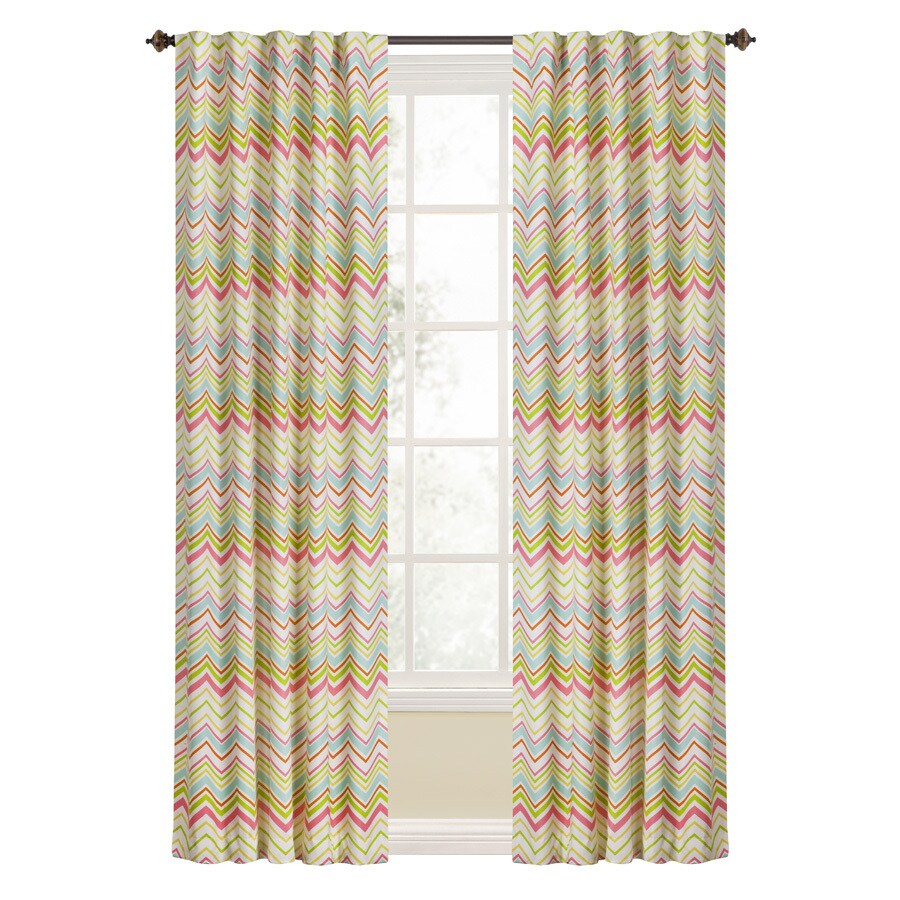 Style Selections Keegan 84-in Multi Polyester Rod Pocket Room Darkening Single Curtain Panel