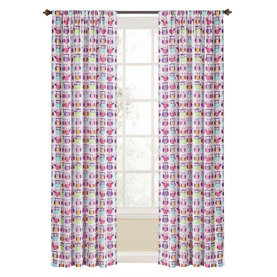 Style Selections Trea 84 In Polyester Rod Pocket Light Filtering Single Curtain Panel