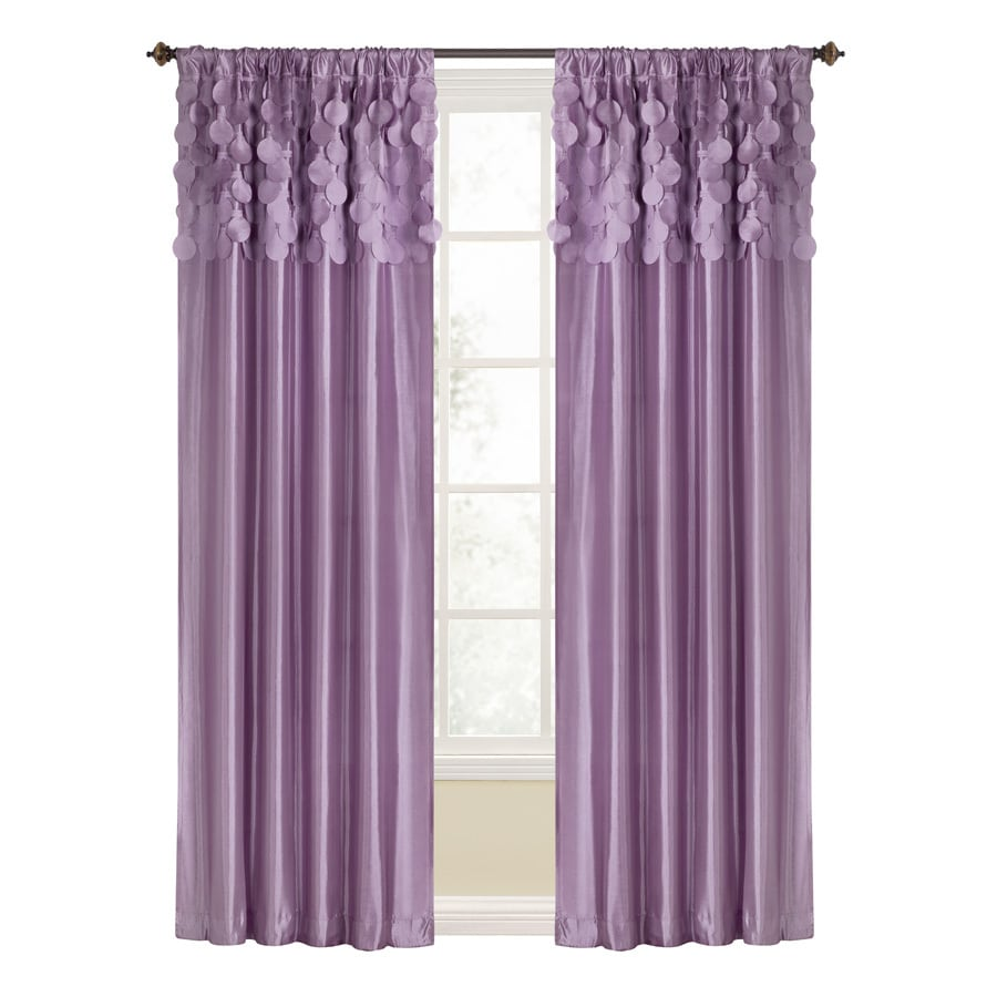 Style Selections Lavena 84-in Purple Polyester Rod Pocket Light Filtering Single Curtain Panel