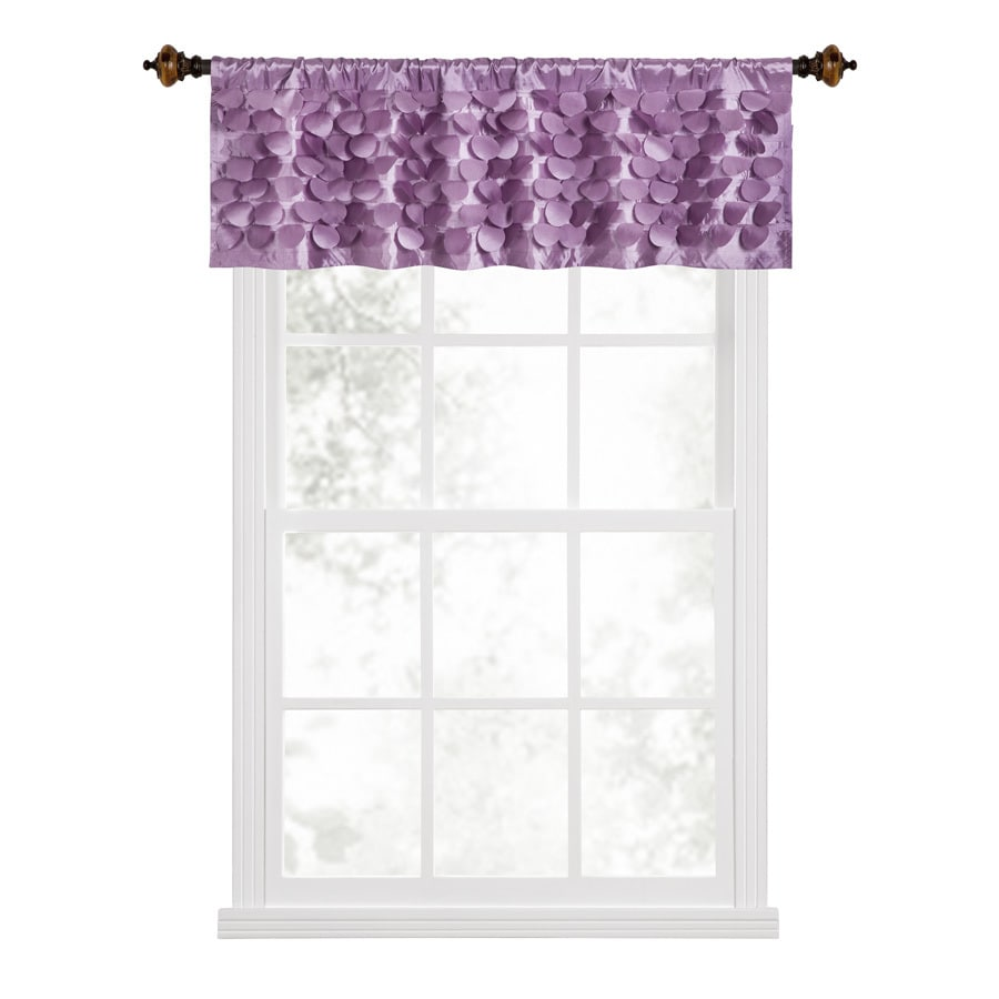 Style Selections Lavena 17-in Purple Polyester Rod Pocket Valance