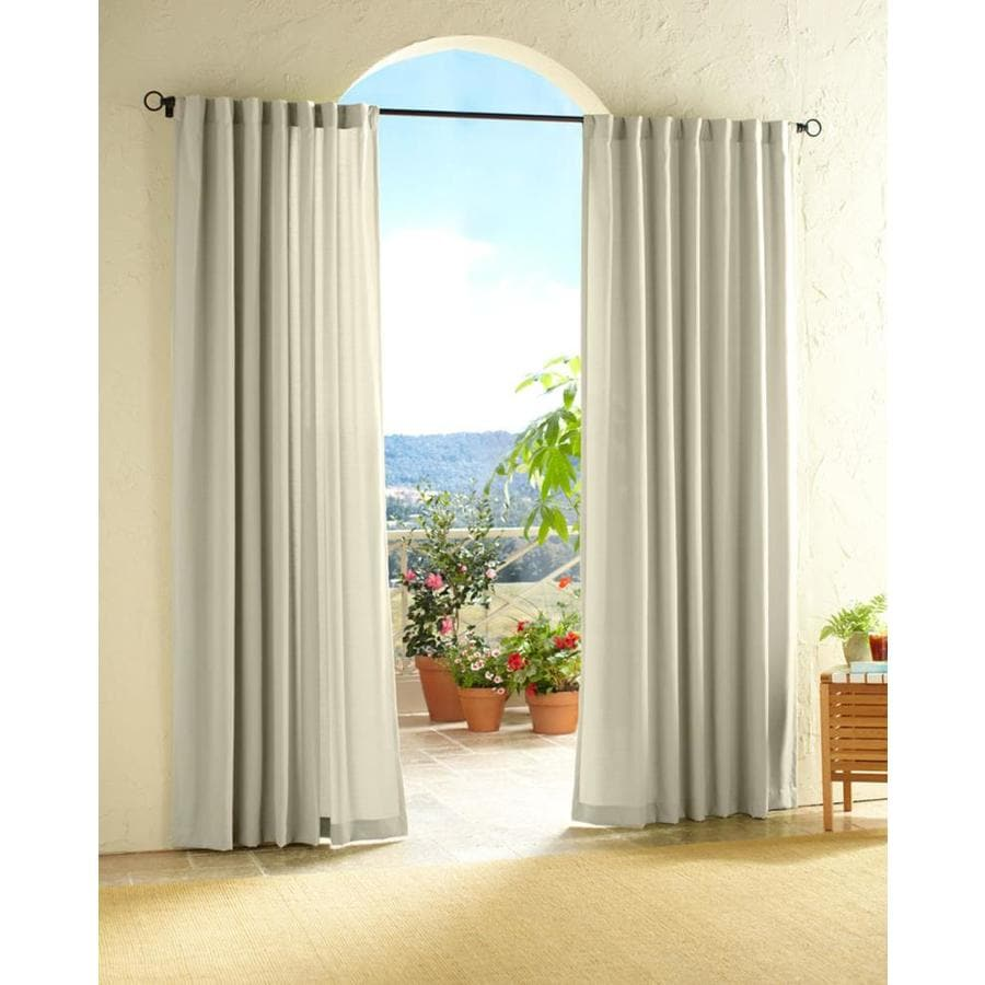 Solaris Canvas 108 In L White Outdoor Curtain Panel