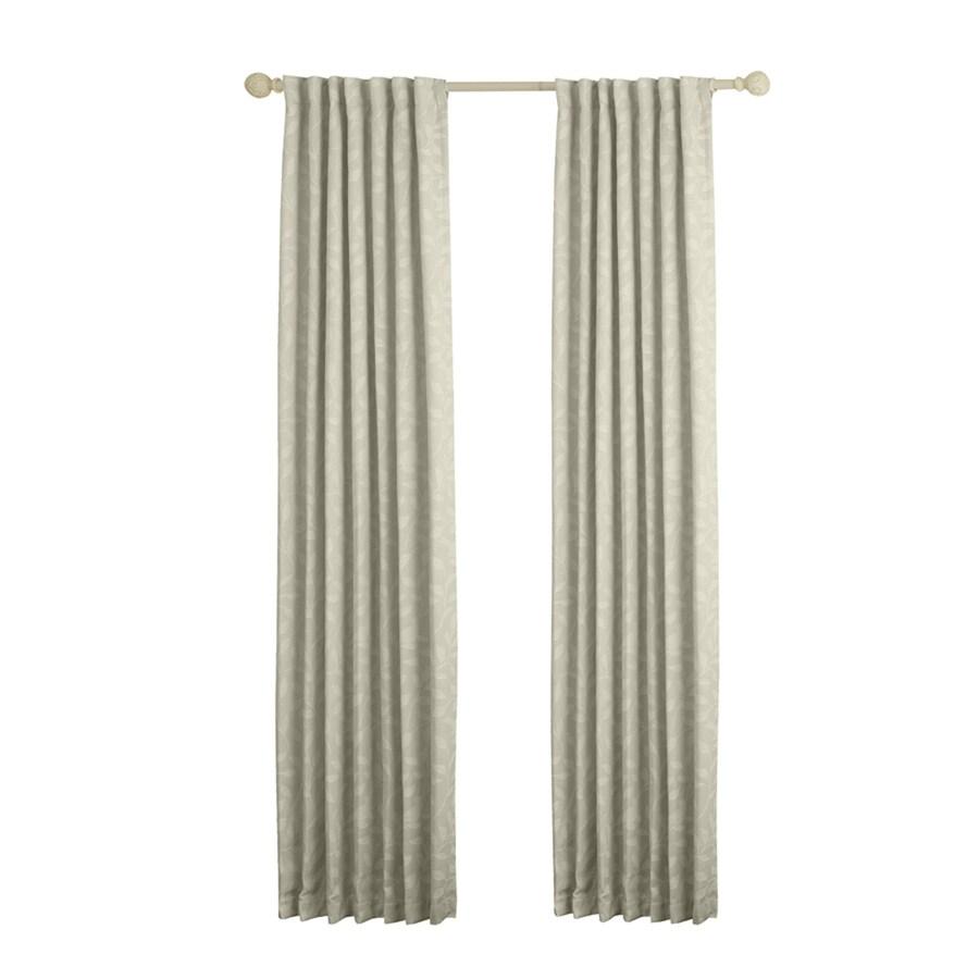allen + roth Carronbridge 95-in Linen Polyester Back Tab Room Darkening Standard Lined Single Curtain Panel