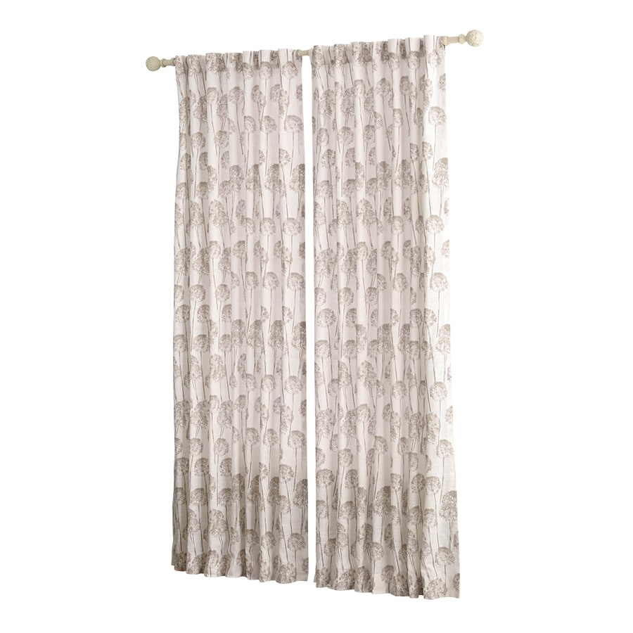 allen + roth Wintondale 63-in Linen Cotton Back Tab Light Filtering Single Curtain Panel