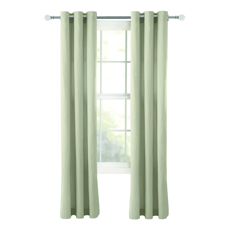 Style Selections Bernard 63-in Neutral Cotton Grommet Light Filtering Single Curtain Panel