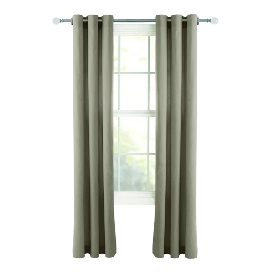 Style Selections Bernard 84-in Taupe Cotton Grommet Light Filtering Single Curtain Panel