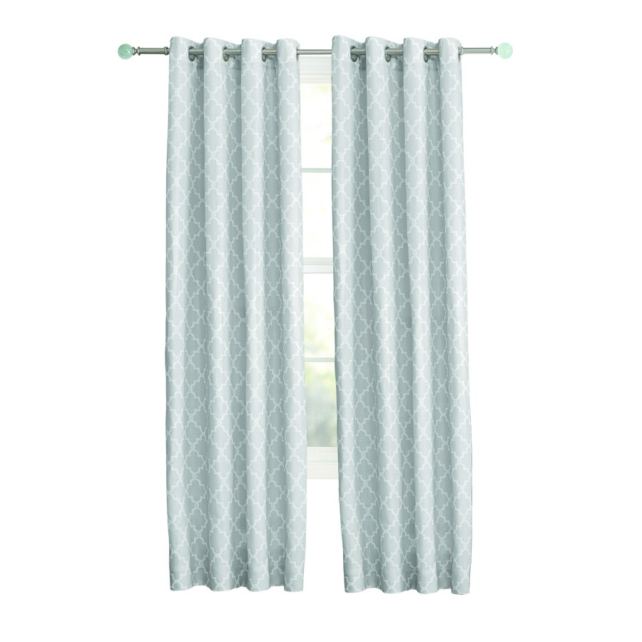 allen + roth Selwick 63-in Grey Polyester Grommet Light Filtering Single Curtain Panel