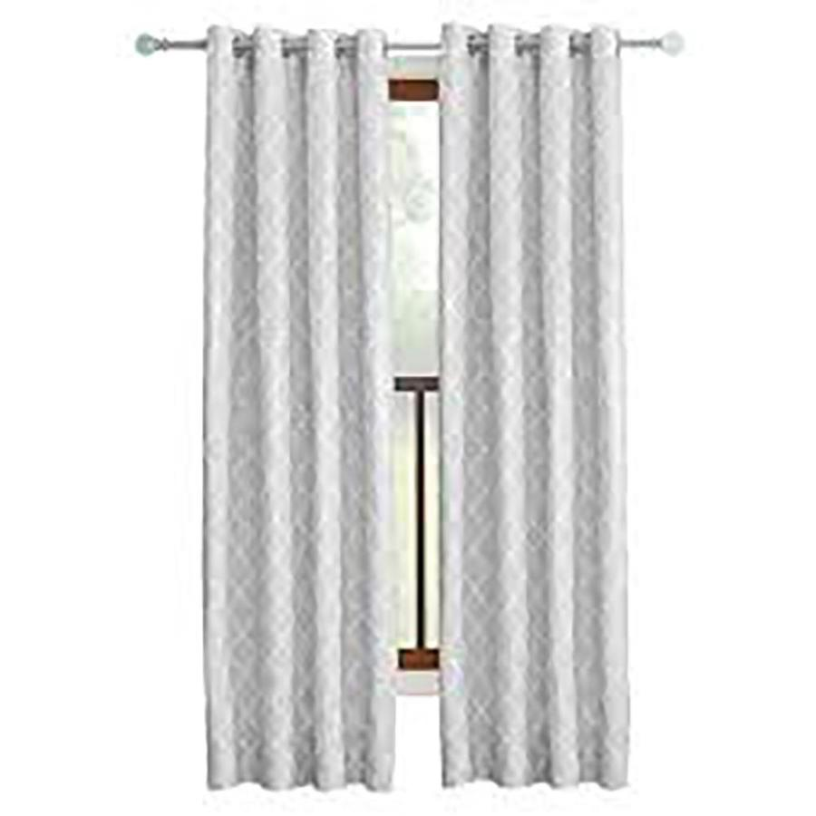 Allen + Roth Selwick 95 In Grey Polyester Grommet Light Filtering Single  Curtain Panel