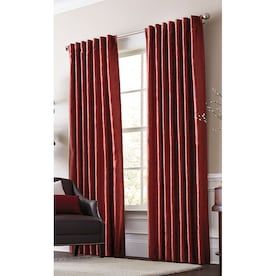 allen + roth Volney 84-in Spice Polyester Light Filtering Standard Lined Single Curtain Panel