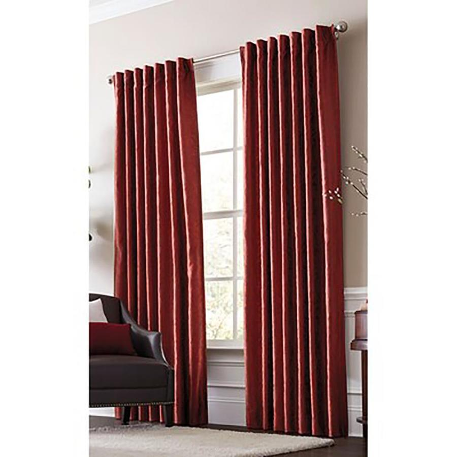 allen + roth Volney 95-in Spice Polyester Back Tab Light Filtering Standard Lined Single Curtain Panel