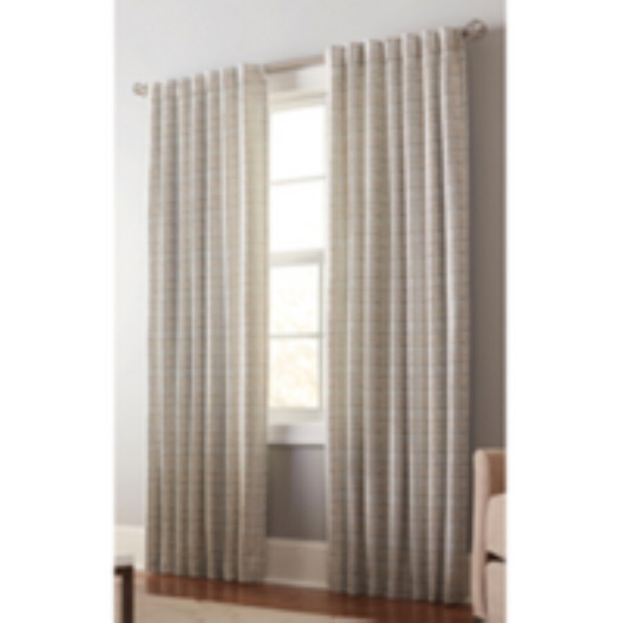 allen + roth Nelliston 84-in Mineral Polyester Back Tab Light Filtering Standard Lined Single Curtain Panel