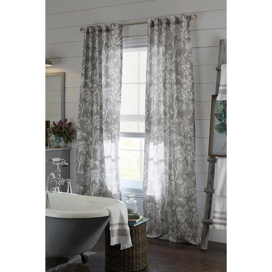 Exceptionnel Allen + Roth Jacklyn 84 In Gray Polyester Back Tab Light Filtering Single Curtain  Panel