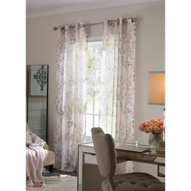 allen + roth Candian 84-in Blush Polyester Semi-sheer Single Curtain Panel