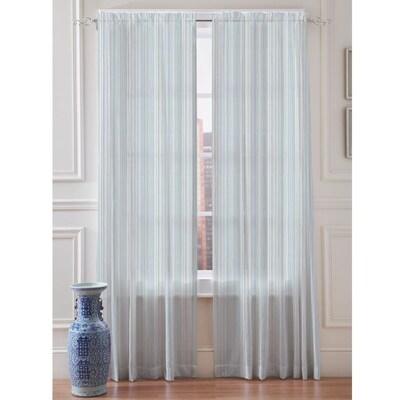 Springmaid Sheer Stripe 108 In Mist Polyester Light