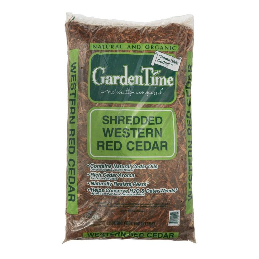 Garden Time 2 Cu Ft All Natural Reddish Color Mulch