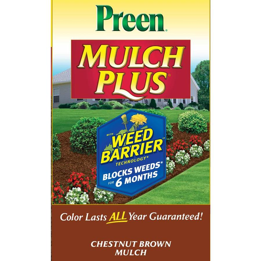 Preen Mulch Plus 2-cu ft Light Brown/Gold Mulch
