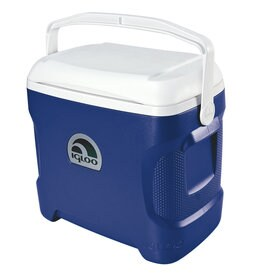 IGLOO Contour 30 qt Majestic Blue Hard Cooler