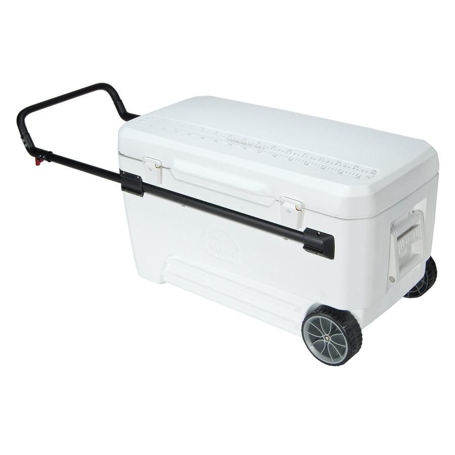 igloo 110quart wheeled plastic chest cooler