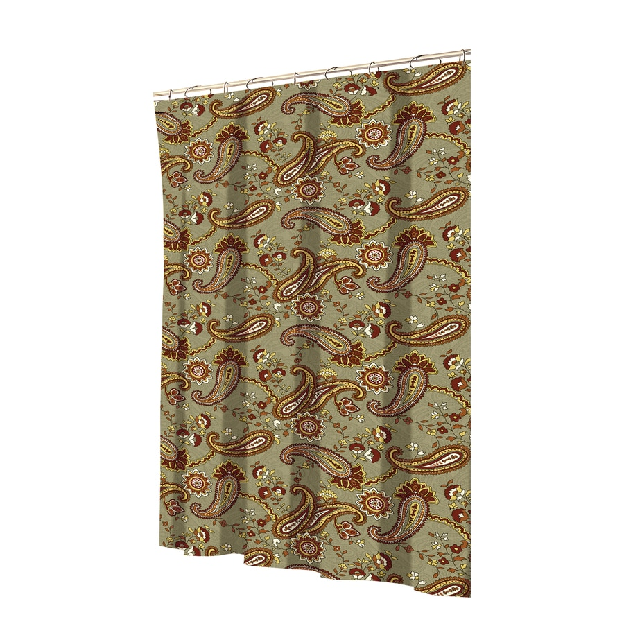 Allen Roth Polyester Spice Patterned Shower Curtain