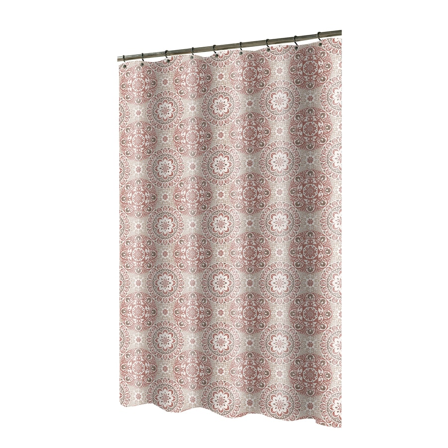 Polyester Spice Patterned Shower Curtain At Lowes