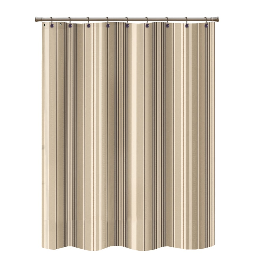 Shop Polyester Brown Striped Shower Curtain at Lowes.com