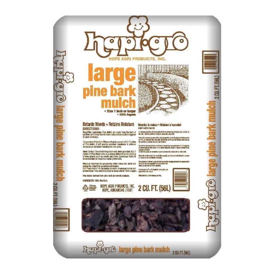 Hapi-Gro 2-cu ft Dark Brown Nuggets Pine Bark Mulch