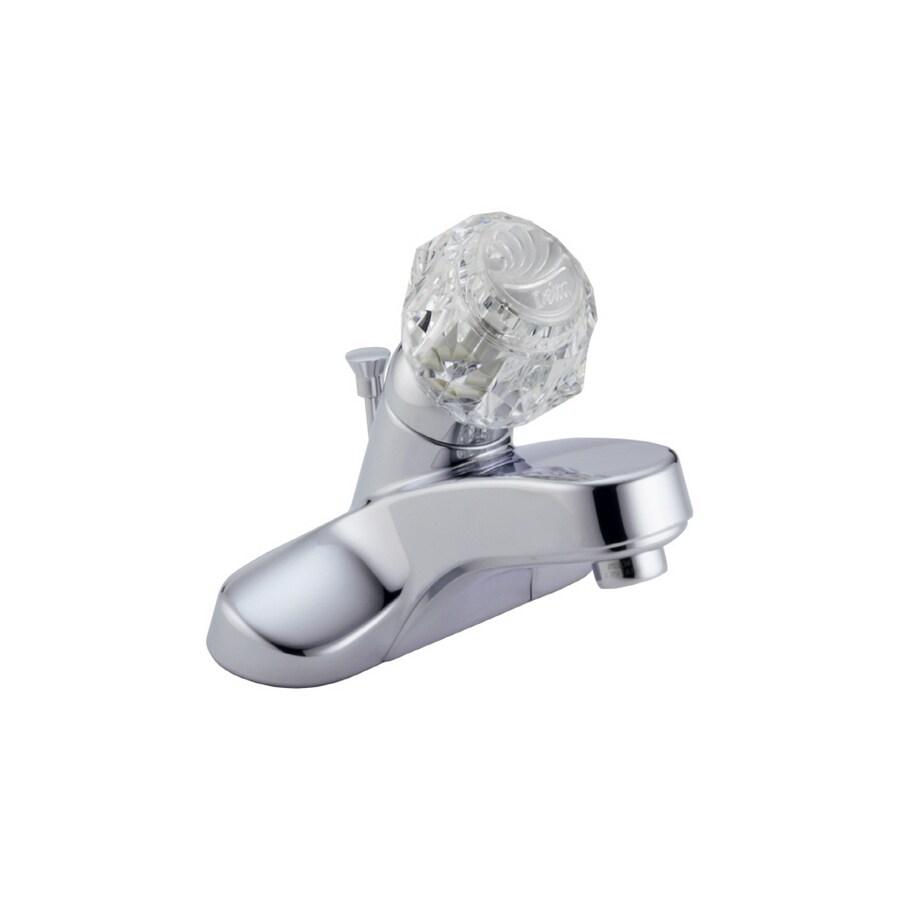Shop Delta Classic Chrome Single-Handle Bathroom Faucet at Lowes.com