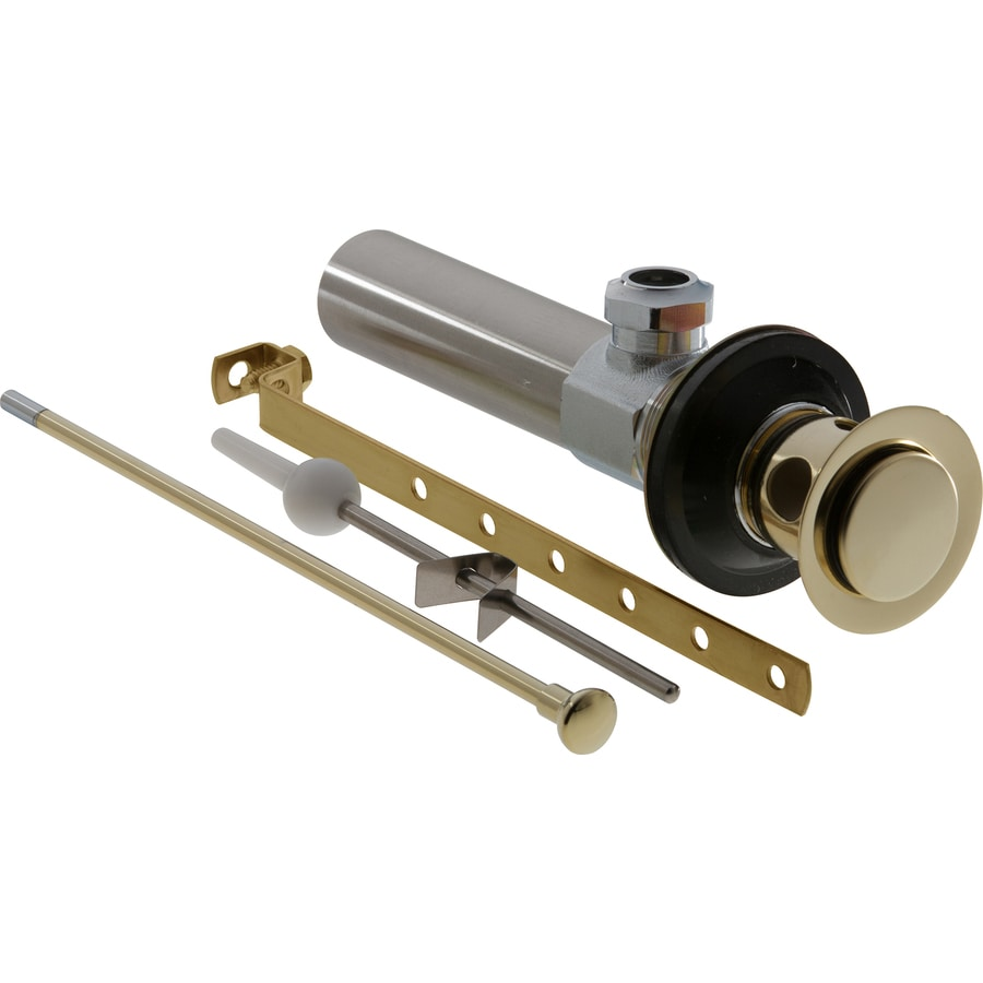 Shop Delta Universal Fit Polished Brass Pop Up Drain Kit At