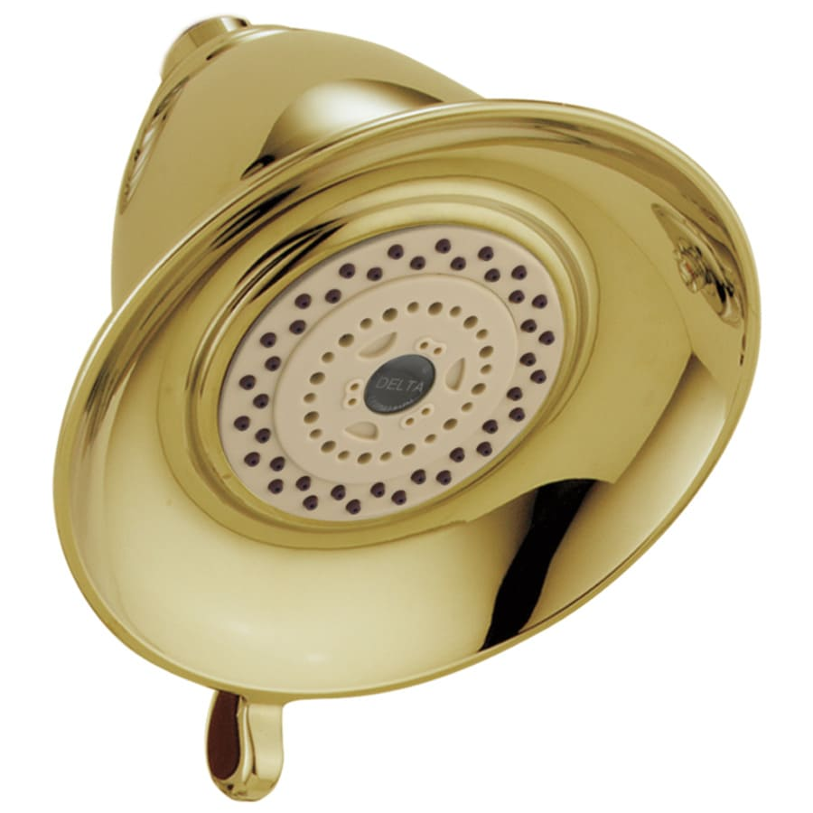 Delta Victorian 5-in 2.5-GPM (9.5-LPM) Polished Brass 2-Spray Showerhead