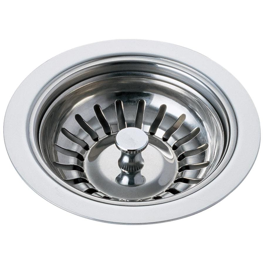 shop delta chrome stainless steel kitchen sink