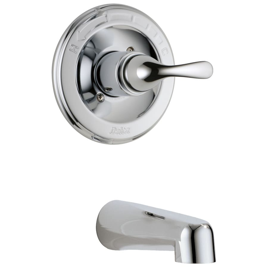 Shop Delta Classic Chrome 1 Handle Wall Mount Bathtub Faucet At