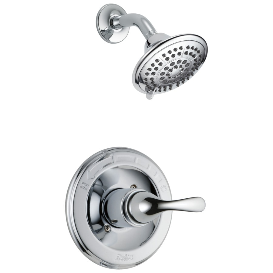 Delta Classic Chrome 1-Handle WaterSense Shower Faucet Trim Kit with Multi-Function Showerhead