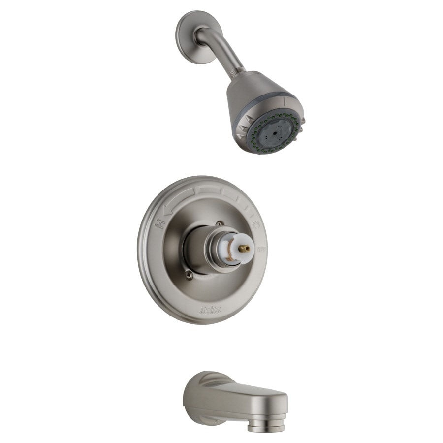 622f22be06c Delta Innovations Pearl Nickel 1 Handle Bathtub And Shower. Delta Faucet  Trim Kit ...