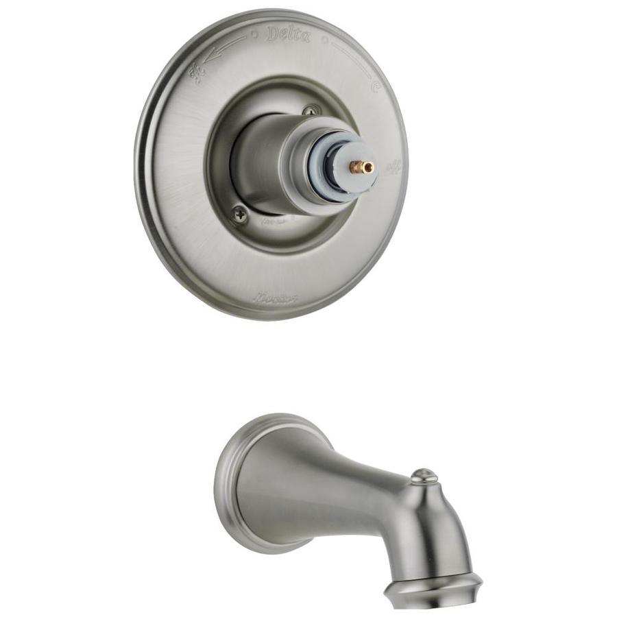 Delta Victorian Stainless 1 Handle Wall Mount Bathtub
