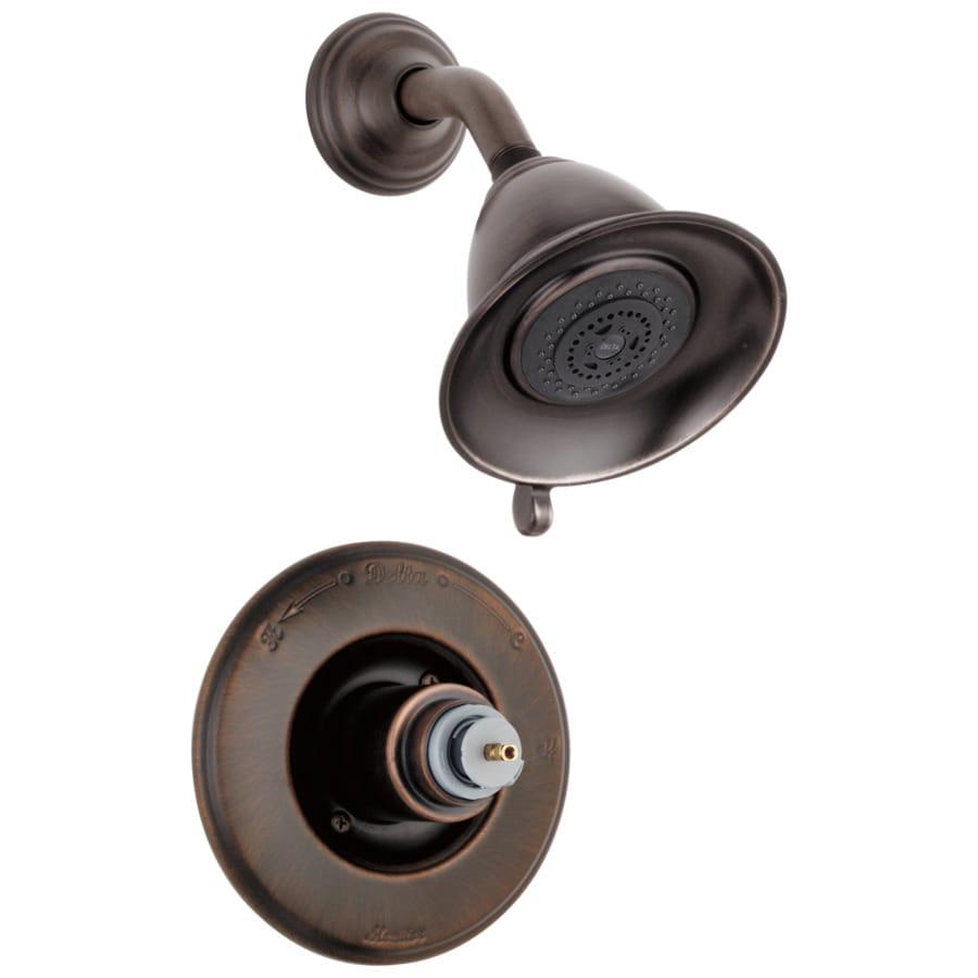 Delta Victorian Venetian Bronze 1-Handle Shower Faucet Trim Kit with Multi-Function Showerhead