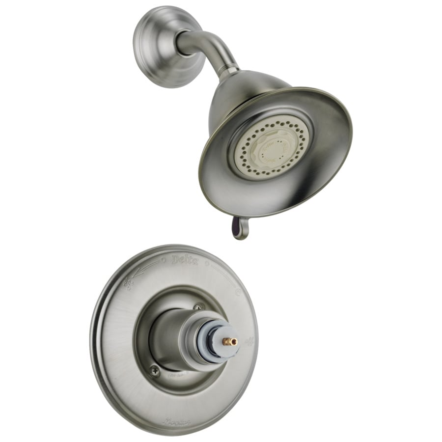 delta victorian stainless 1 handle shower faucet trim kit with multi