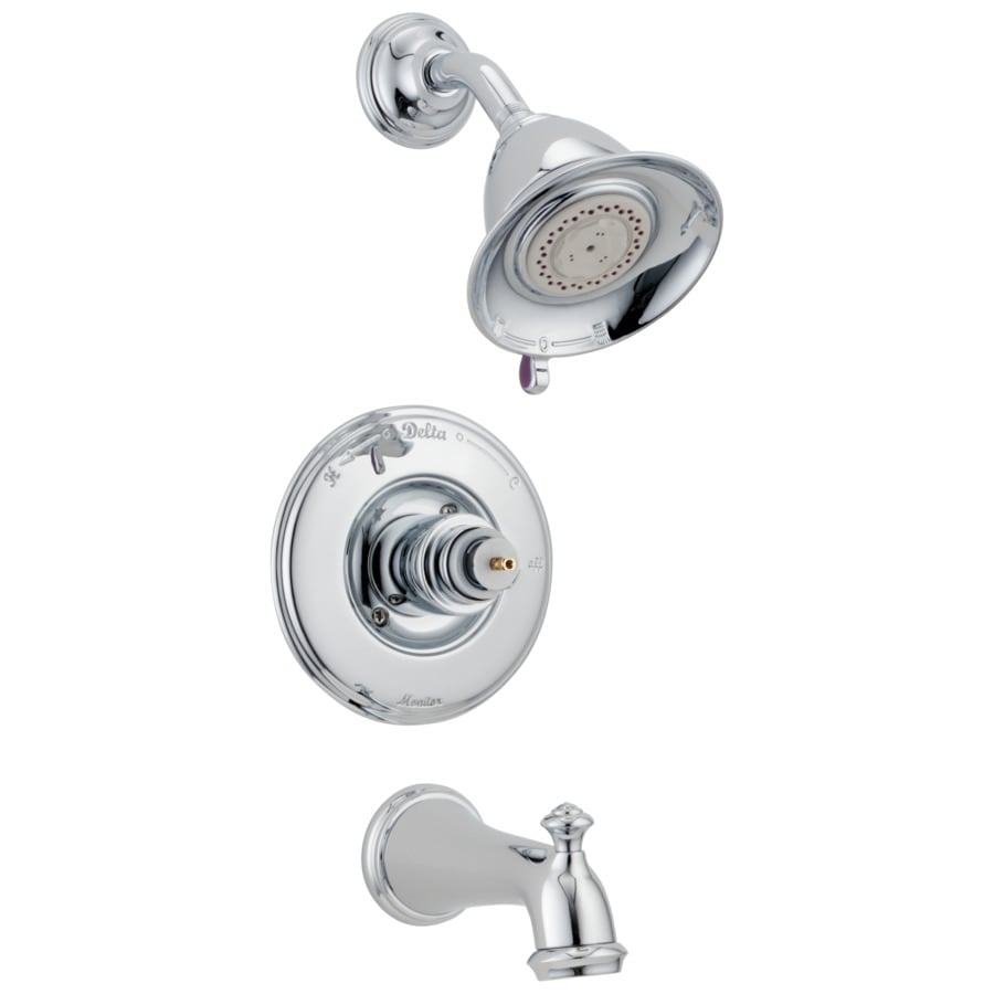 Delta Victorian Chrome 1-Handle Bathtub and Shower Faucet Trim Kit with Multi-Function Showerhead