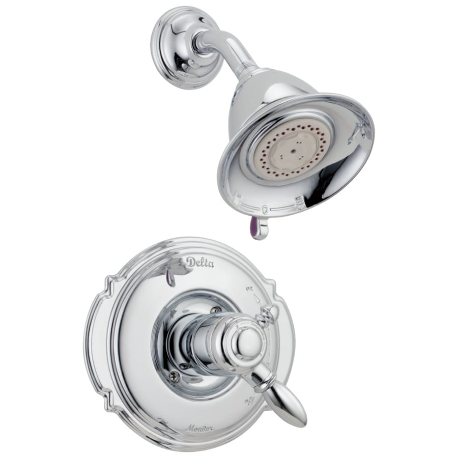 Delta Victorian Chrome 1-Handle Shower Faucet Trim Kit with Multi-Function Showerhead