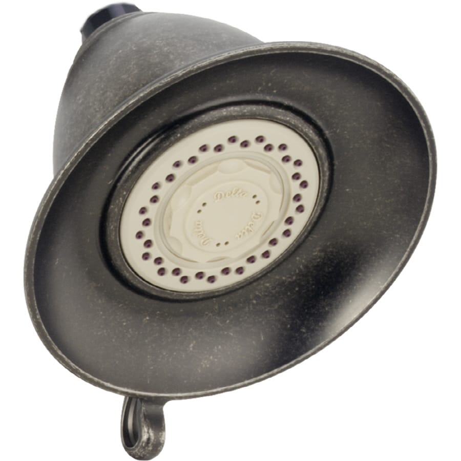 Delta Victorian 5-in 2.5-GPM (9.5-LPM) Aged Pewter 2-Spray Showerhead