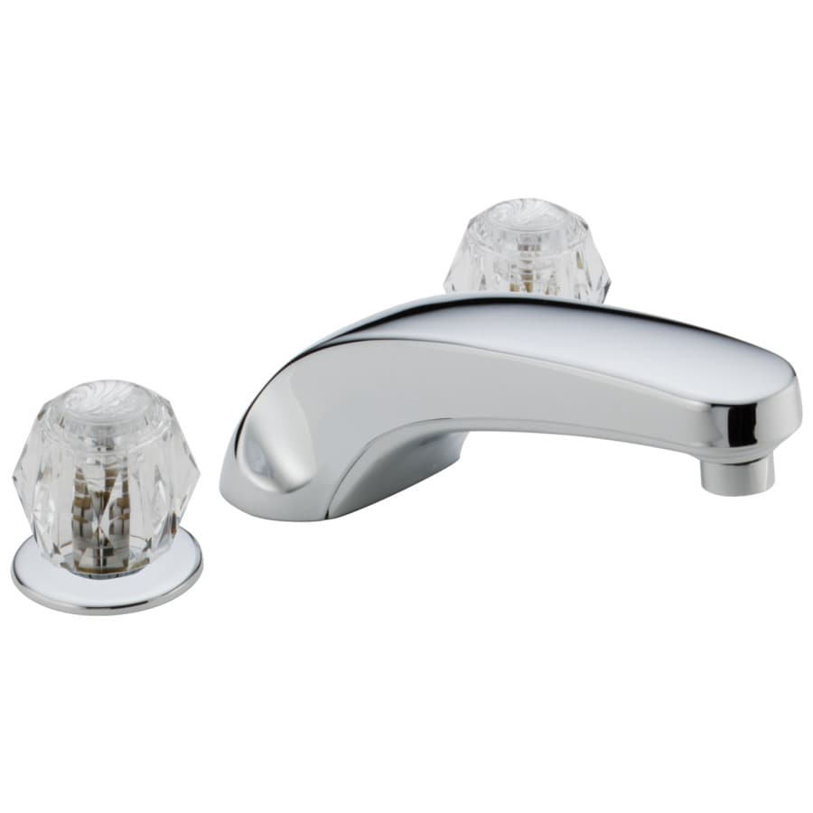 Bathtub Spigot Chrome 2 Handle Adjustable Deck Mount Bathtub Faucet At