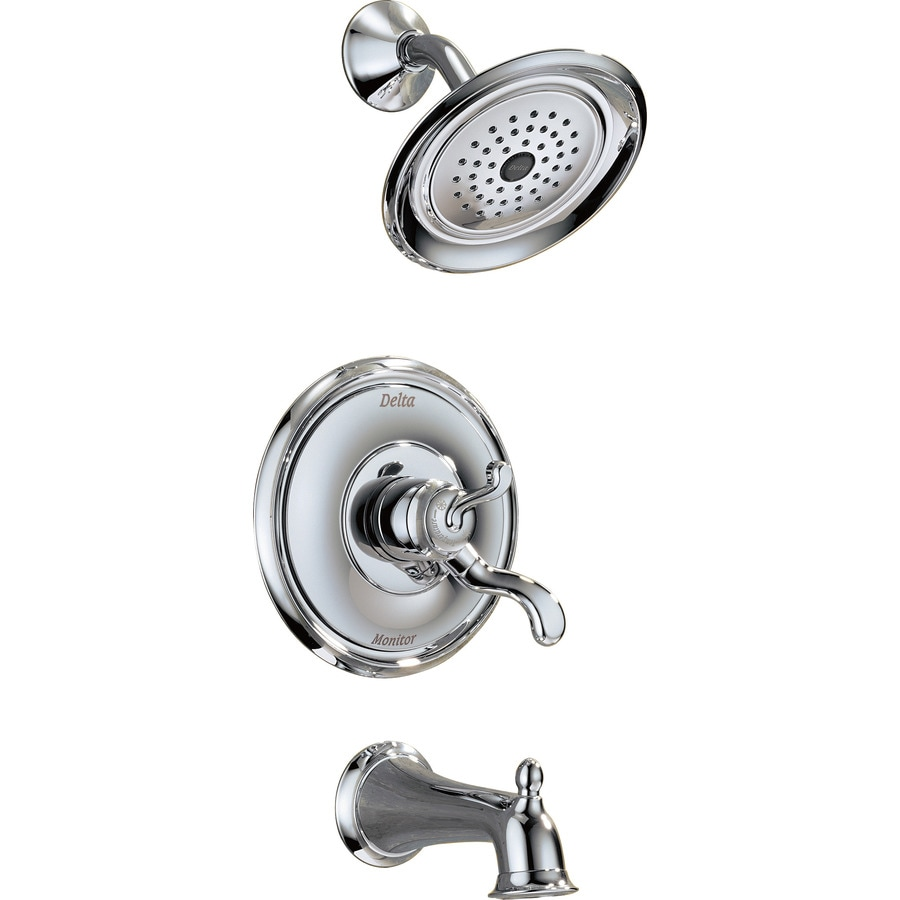 Delta Vessona Chrome 1-Handle WaterSense Bathtub and Shower Faucet with Single Function Showerhead