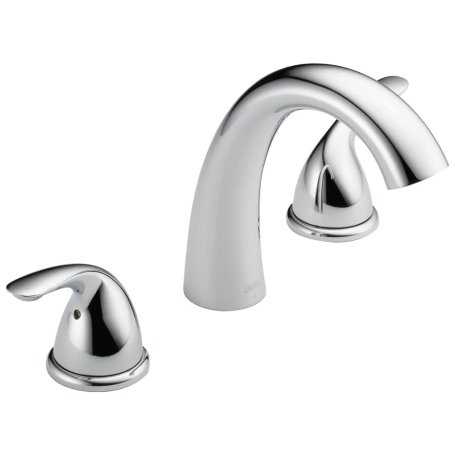Delta Classic Chrome 2-handle Adjustable Deck Mount Bathtub Faucet