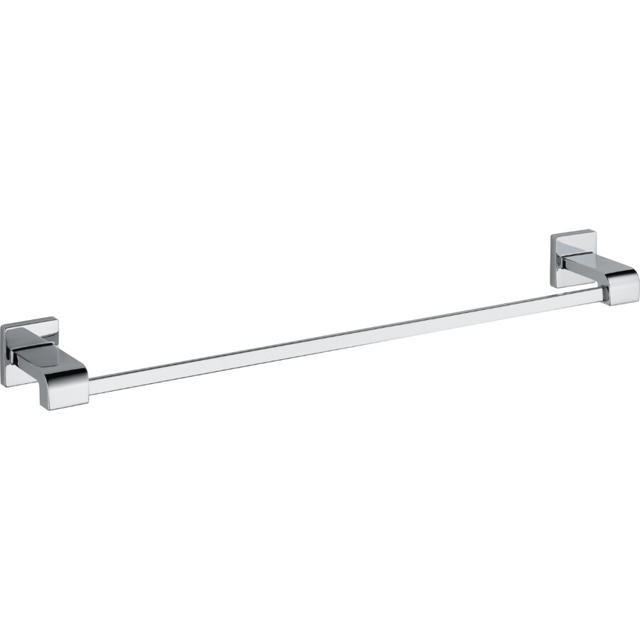 Delta Ara 24 In Polished Chrome Wall Mount Single Towel Bar In The Towel Bars Department At Lowes Com