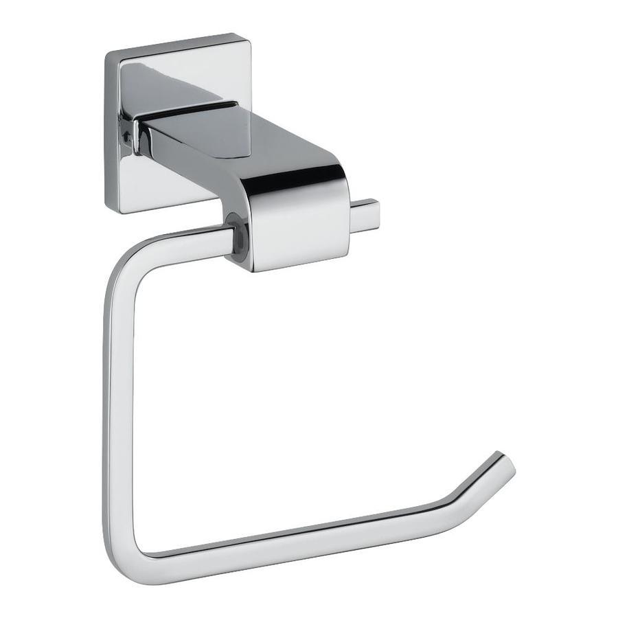 Delta Ara Polished Chrome Surface Mount Single Post Toilet Paper Holder