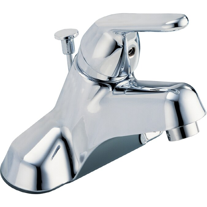 Peerless Chrome 1 Handle 4 In Centerset Bathroom Faucet Drain Included In The Bathroom Sink Faucets Department At Lowes Com